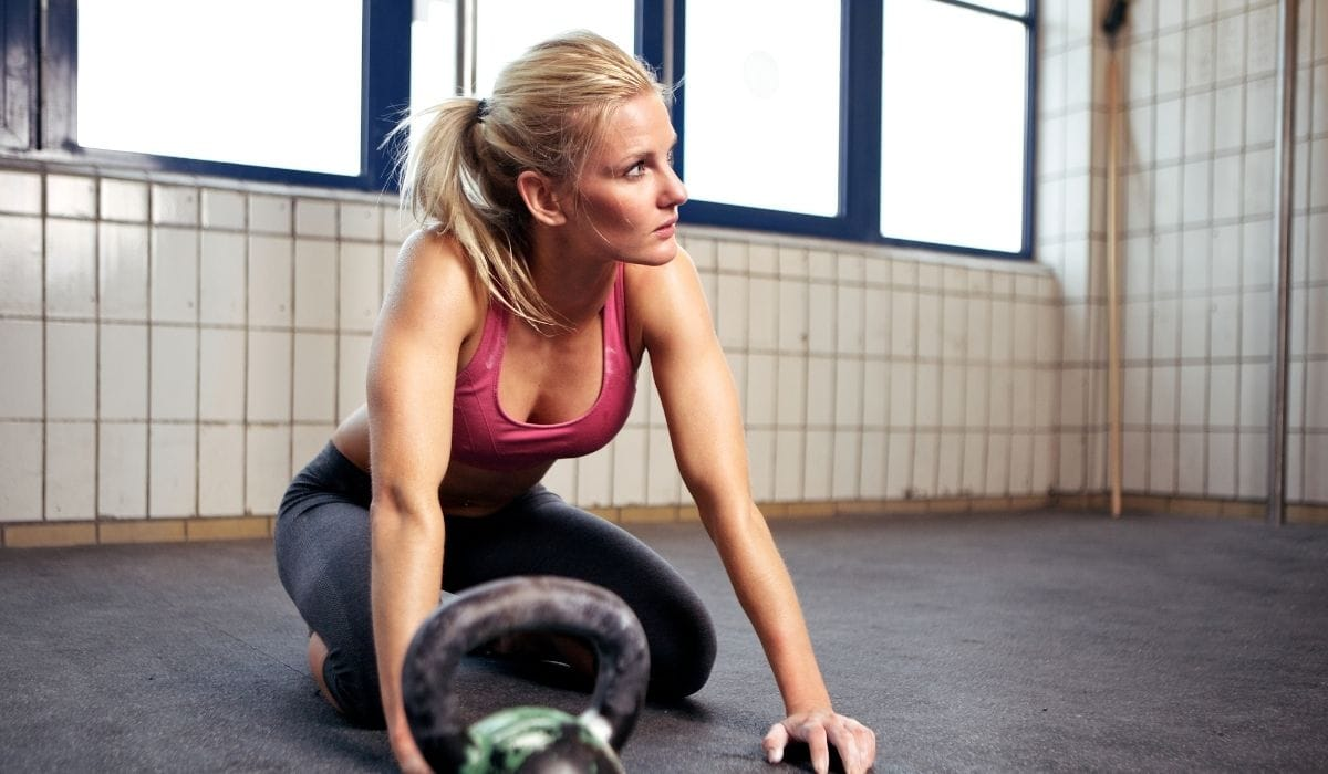 woman resting after intense workout